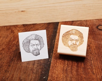 Frederick Douglass - Rubber Stamp Portrait