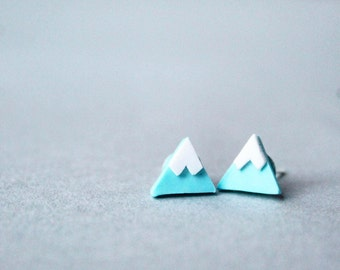 Mountain Earrings - Triangle Earrings - Abstract Earrings - Handmade Earrings - Polymer Clay Earrings - Handmade Jewelery - Triangle Studs