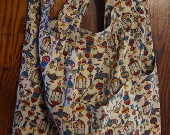 Vintage Cotton Half Apron  - 4 Deep Pockets
