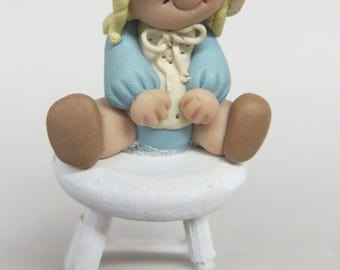 miniature polymer clay figurine