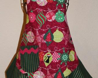 Child's Medium Christmas Ornaments Apron