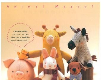 50 Animal Japanese Sewing Patterns - Sewing Pattern - Animal Mascot - Animal Sewing - japanese craft book - ebook - PDF - instant download