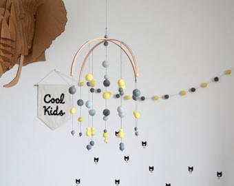 Boy, boy nursery decor mobile