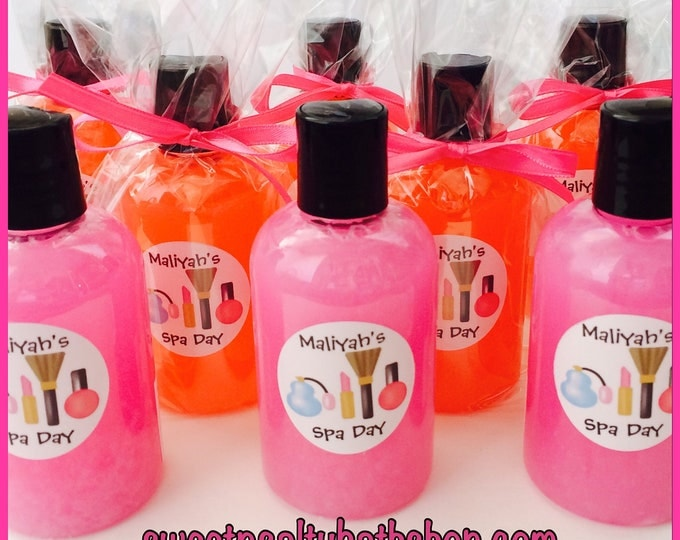 10 Personalized Fun Scents Bath and Body Wash Party Favors for Kids-You Choose the Scent