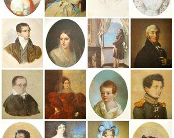 Pushkin, Set of 16 Soviet Unused Postcards, Pushkiniana, Pushkin Museum, Portraits, Russian art, Fine Arts, Moscow, 1982