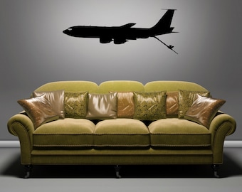 KC-135 Boom Down - Side View - Removable Wall Art Vinyl Decal / Sticker