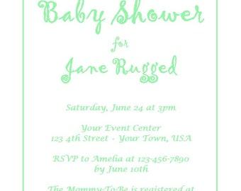 Custom Baby Blocks Baby Shower Invitation