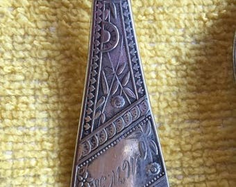 FOUR beautiful Reed & Barton silver-plate tea spoons, unknown pattern