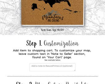 States USA Lettered States Labeled States Cork Push - Us map of states cork poster