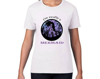 Mermaid Shirt Woman - Im A Mermaid Tops - Mermaid Shirt Gift - Mermaid Tee Gift - Shirt Mermaid - Mermaid Top Tee - Mermaid Top Shirt