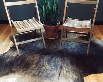 Pair (2) Vintage, solid wood folding chairs Mid Century Modern