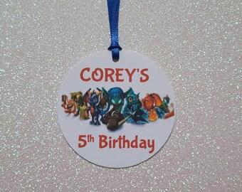 SKYLANDERS Party Favor Tags *Skylanders Birthday Party * Skylanders Gift Favor Tag *PERSONALIZED