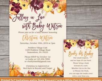 fall baby shower invitations fall floral baby shower pumpkin baby shower invitation falling