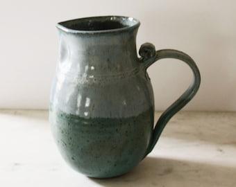 Vintage Studio Pottery Blue Ombré Pitcher
