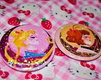 Magical Girl Pinback Button Set