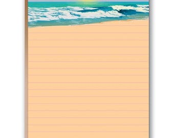 Beautiful Ocean and Beach Theme Note Pad - Set of 2 Notepads - 35024