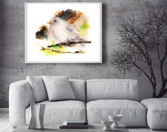 Fine art print of bird, bird painting art, bird wall art, poster of bird, watercolor print, Bird Art