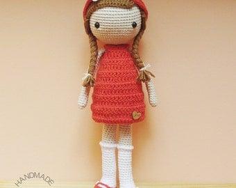 Crochet doll Amigurumi Handmade girl Little girl Girl stuffy Crochet gift Baby doll Stuffed doll Baby shower Child birthday Customize option