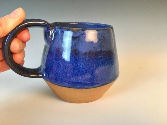 Angular Blue Pottery Mug
