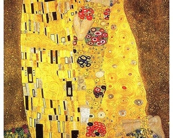 The Kiss Poster by Gustav Klimt, Love's Embrace, Love, Kiss, Art Nouveau