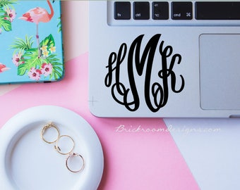 Monogram Decal Sticker - Vinyl Monogram, Corkcicle Decal, Vinyl Monogram for Yeti, Monogram Sticker, Corkcicle Monogram, Yeti Decal