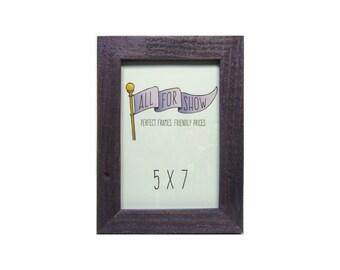 5x7 Frame, Rustic Purple Frame, 5x7 Picture Frame, Photo Frame, Picture Frame, 7x5 Frame, 5x7 Photo Frame, Rustic Frame, 5x7 Barn Wood Frame