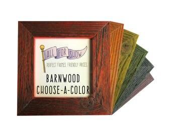 8x8 Barnwood Frame, Custom Color Frame, 8x8 Picture Frame, Barnwood Choose-A-Color, Photo Frame, Custom Photo Frame, 8x8 Wood Photo Frame