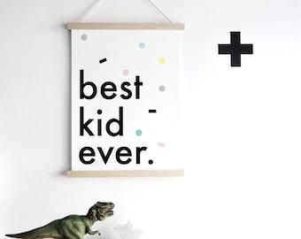Best kid Ever Nursery Print Boys Room Kids Room nursery decor new baby gifts baby shower