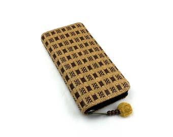 Women wallet clutch - Rustic Brown color, Rattan Wickerwork Wallet, Vegan wallet - Natural Eco Material, Native woven long wallet purse
