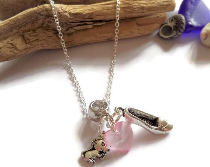 princess cinderella, cinderella necklace, mouse necklace, slipper necklace, princess party, princess favors, ouat fandom, princess jewellery