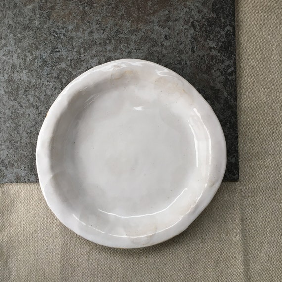 White Serving Bowl with Rim