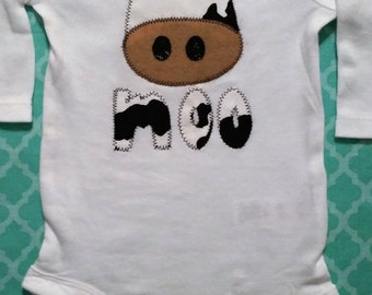 Baby's Children's Animal Cow Moo Daddy Farmer Shirt Onesie Baby Shower New Baby Gift