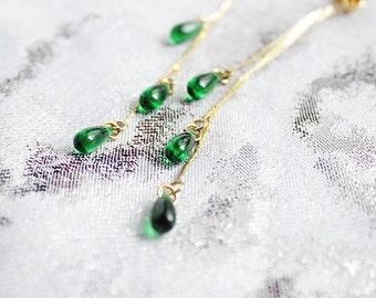 stud earrings green jewelry emerald studs romantic gift/for/wife teardrop studs girlfriend gift/for/daughter prom gifts/may/birthstone пя103