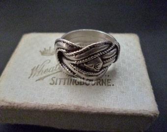 Vintage Sterling silver buckle ring - 925 - Size N - US 6.75