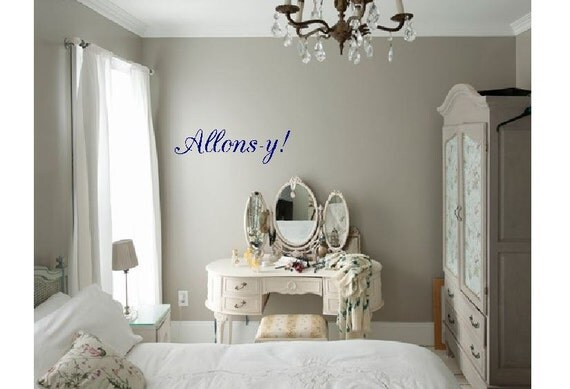 Allons Y Door Decal Wall Art Doctor Who Home Decor