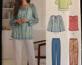 New Look 6292 - Easy Top or Tunic and Pants with Drawstring Waist - Size 10 12 14 16 18 20 22