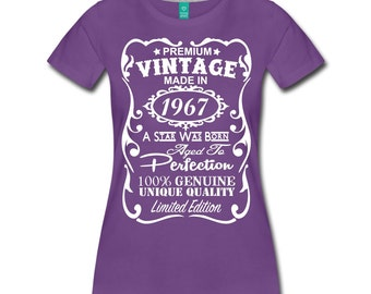 50th Birthday Gift Ideas for Women Unique T-shirt - All Sizes: S-3XL - Made in 1967 Shirt - Memorable Birthday Shirt - Birthday Gift for Her