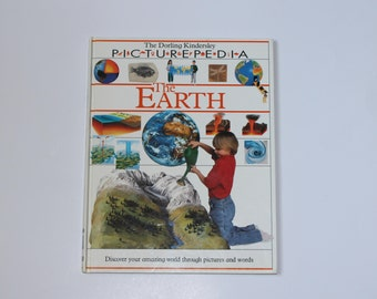 Childrens Book Science The Earth Picturepedia DK Dorling Kindersley Vintage Elementary Middle School Student Library Home School