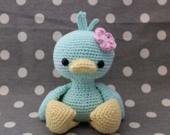 Baby blue duckie %100 cotton ( ready to ship)