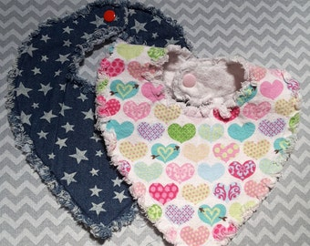 Bandana Style Baby Bib Sewen In The Embroidery  Hoop 4-6months