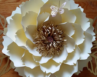 Paper flower template, paper flower template ONLY.SVG cut file DIY paper flower tutorial, custom flower wall pattern