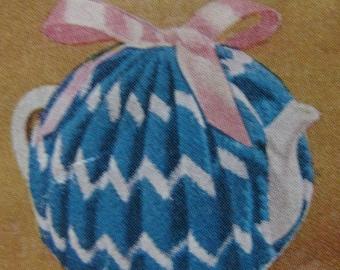 Four Cup Tea Cosy Vintage Crochet Pattern 1950's  PDF Instant Download 3 Ply Crochet Pattern Tea Cosies
