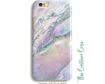 Pastel Marble Phone Case, Soft Rainbow Stone Phone Case, Pink Marble Phone Case, Soft Pastel Stone Phone Case, Pink and Lavender Marble Case