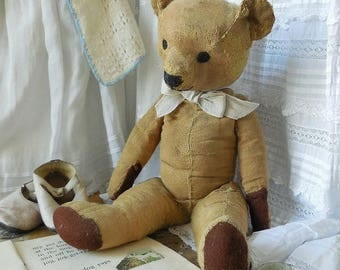 Large vintage teddy bear, much loved