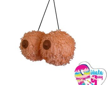 Adult pinata. Topless. Pinata tetas. Farewell party.