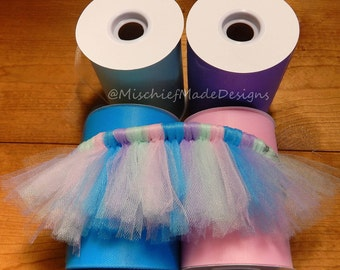 Unicorn Princess Custom Tutu - pink, turquoise, mint & lavender tulle dog tutu