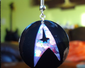 Star Trek Recycled CD Earrings