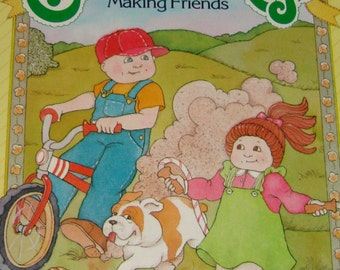 Cabbage Patch Kids - Vintage Illustrated Children's Story Book - Making Friends