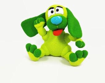 Crochet colorful dog - dog softie - toy dog - amigurumi dog - crochet dog - crochet animal - amigurumi dog - plush dog - happy dog