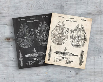 75% OFF SALE - Star Wars, Millennium Falcon Star Wars Poster, Millennium Falcon Star Wars Patent, Millennium Falcon Star Wars Print, Falcon
